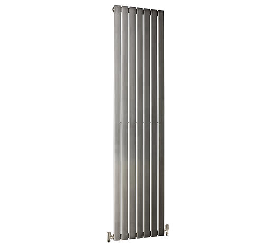DQ Heating Delta 230 x 1600mm Brushed Stainless Steel Vertical Radiator Image