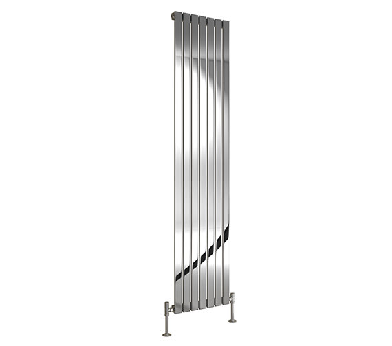 Image 3 of DQ Heating Delta 230 x 1600mm Brushed Stainless Steel Vertical Radiator