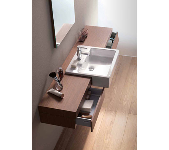 Fogo Console With Drawer For Semi Recessed Washbasin 1600mm FO8385 Image