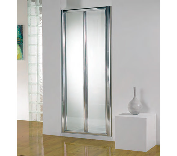 Kudos Original 900mm White Bi-fold Shower Door With Tray And Waste Image