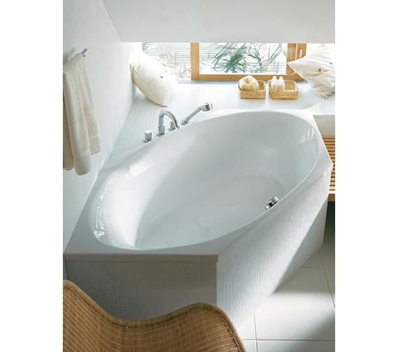 Image 3 of Duravit 2 x 3 Hexagonal Bath Tub 1900 x 900mm - 700025000000000