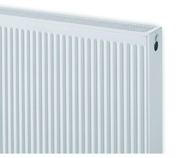 Image 4 of Quinn Compact Double Panel Convector Radiator 600 x 600 22K