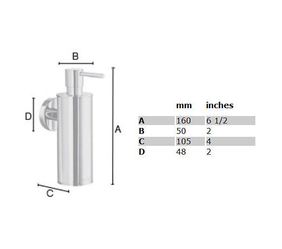 Image 2 of Smedbo Home Soap Dispenser With Holder - HK370