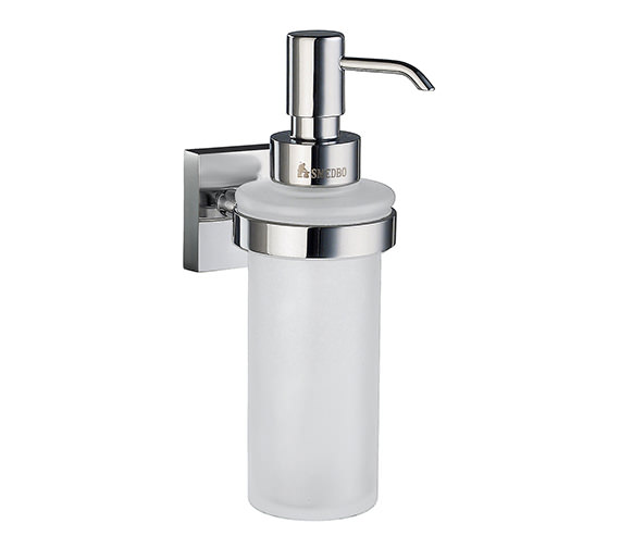 Smedbo House Frosted Glass Soap Dispenser With Holder - RK369 Image