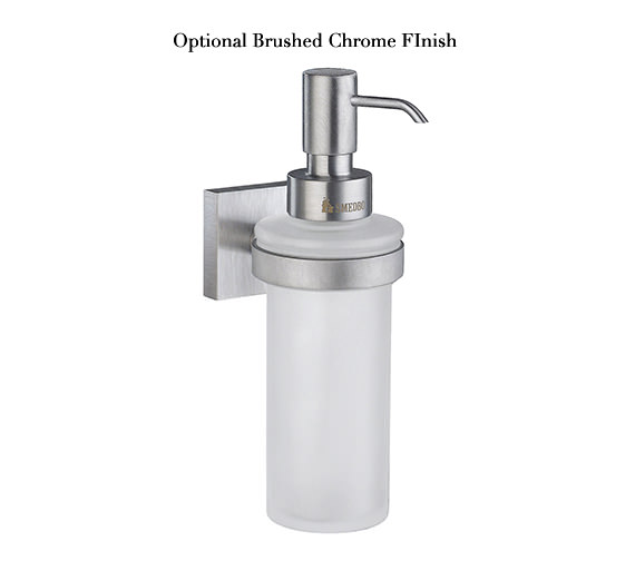 Image 3 of Smedbo House Frosted Glass Soap Dispenser With Holder - RK369