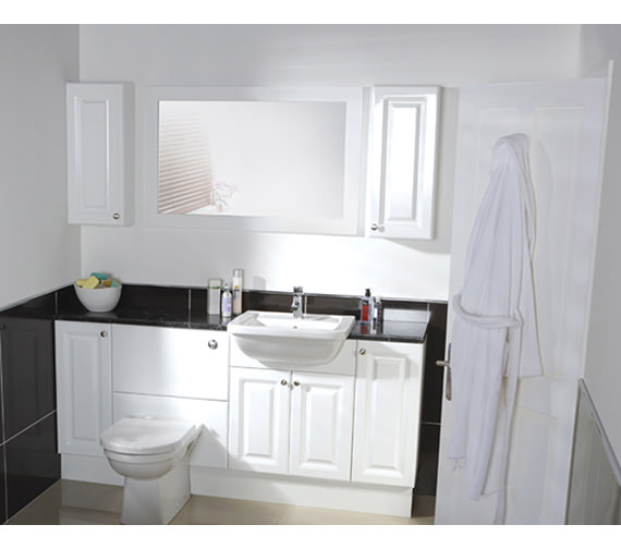 Image 3 of Balterley White Classic 700mm Cistern Base Cabinet With Legs