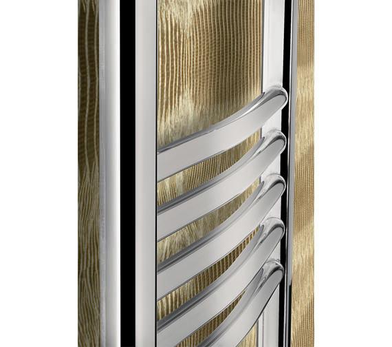 Image 2 of Bauhaus Stream 600 x 1430mm Curved Towel Warmer Chrome - ST60X143C