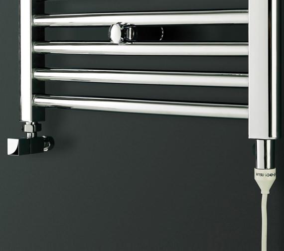 Image 3 of Bauhaus Stream 600 x 1430mm Curved Towel Warmer Chrome - ST60X143C