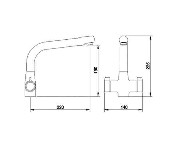 Image 2 of Ultra Cruciform Kitchen Sink Mixer Tap - KA304