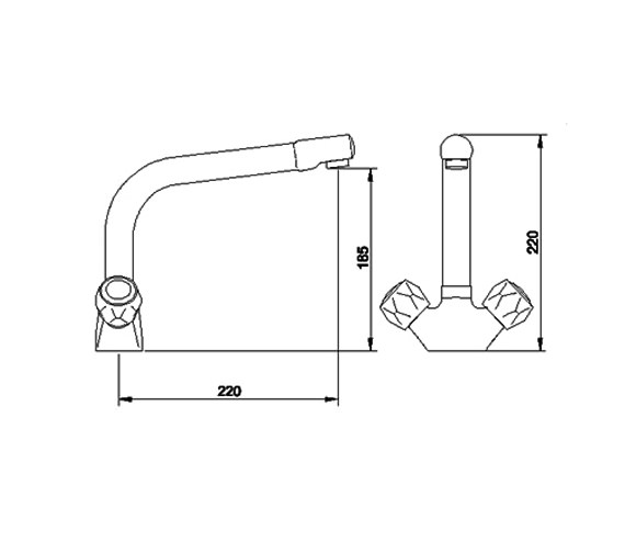 Image 2 of Ultra Eon Mono Kitchen Sink Mixer Tap - KA303