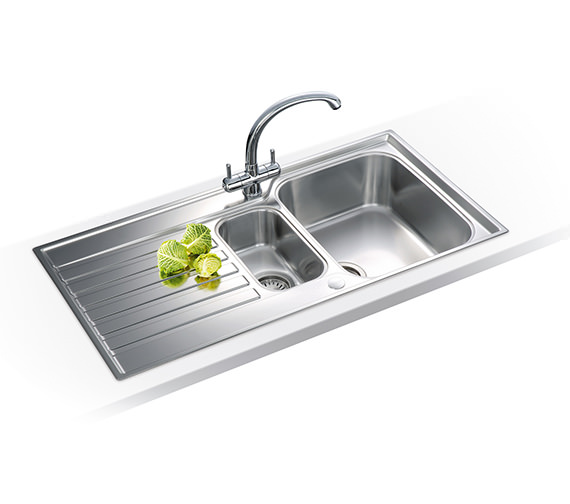 Image 3 of Franke Ascona ASX 651 Stainless Steel 1.5 Bowl Kitchen Inset Sink