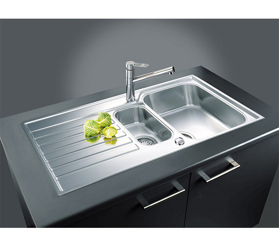 Image 4 of Franke Ascona ASX 651 Stainless Steel 1.5 Bowl Kitchen Inset Sink
