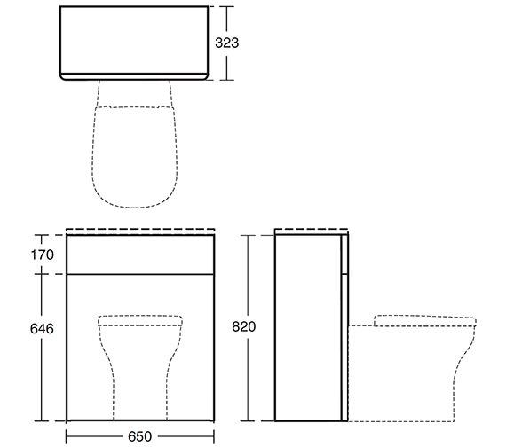 Image 2 of Ideal Standard Softmood 650mm WC Unit Walnut - T7819S6