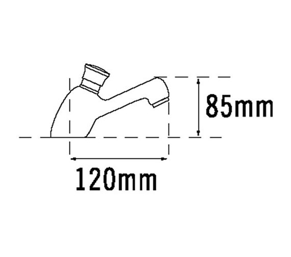 Image 2 of Tre Mercati Capri Non Concussive Pair Of Basin Tap Chrome - 406
