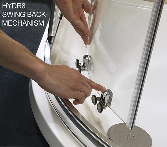 Image 4 of Twyford Hydr8 Offset Quadrant Shower Enclosure 1200 x 800mm