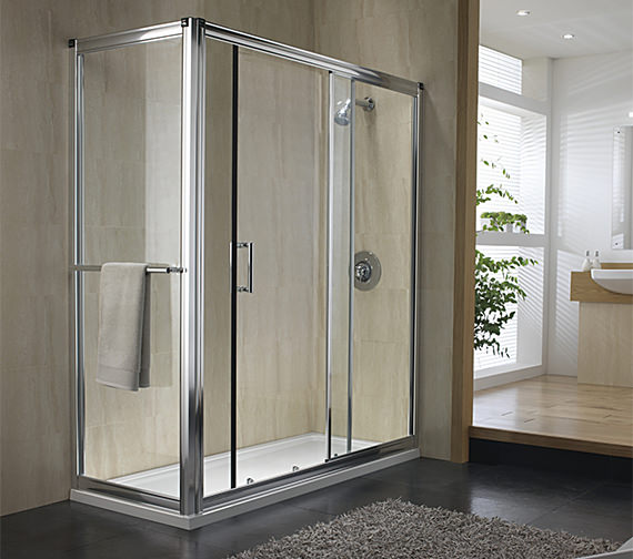 Image 3 of Twyford Hydr8 Shower Enclosure Side Panel 700mm - H82400CP