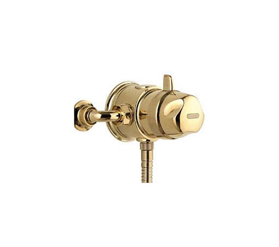 Aqualisa Aquavalve 700 Exposed Thermostatic Shower Valve Gold 700.51.04 Image