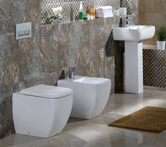 Image 4 of RAK Metropolitan Back To Wall WC Pan With Soft-Close Seat 525mm