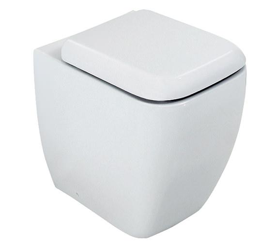 RAK Metropolitan Back To Wall WC Pan With Soft-Close Seat 525mm Image