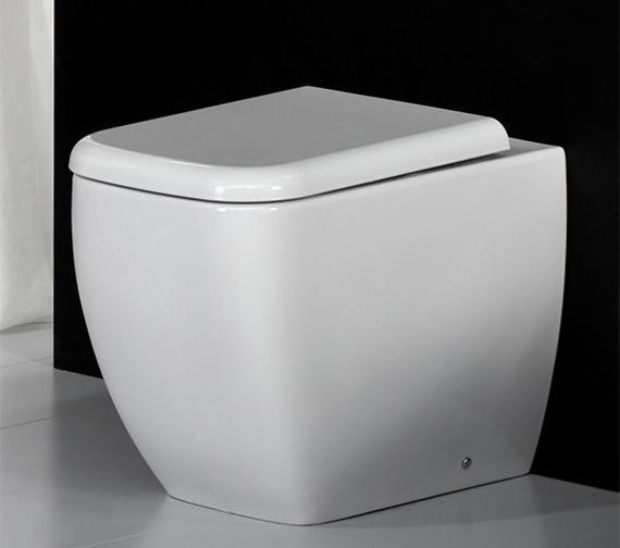Image 3 of RAK Metropolitan Back To Wall WC Pan With Soft-Close Seat 525mm