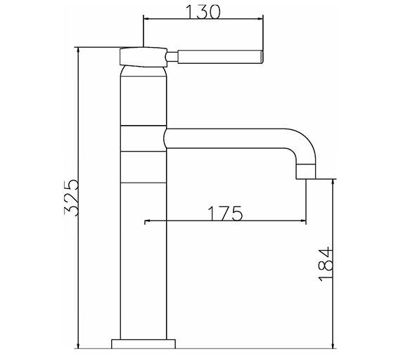 Image 2 of Ultra Helix Single Lever High Rise Mono Basin Mixer Tap - PK370