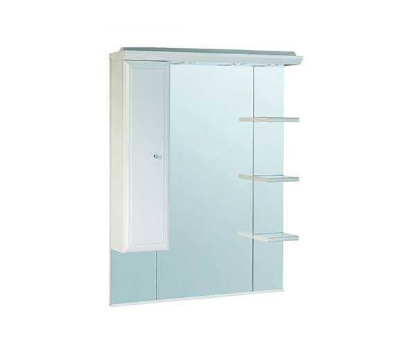 Roper Rhodes Valencia 1000mm Mirror With Shelves - Cupboard And Canopy Image