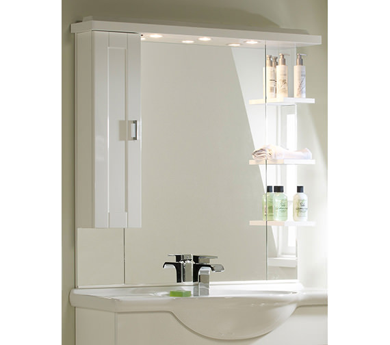 Roper Rhodes New England 1000mm White Mirror-Canopy-Shelves-Cupboard Image