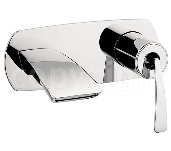 Crosswater Essence Wall Mounted 2 Hole Basin Mixer Tap - ES121WNC Image