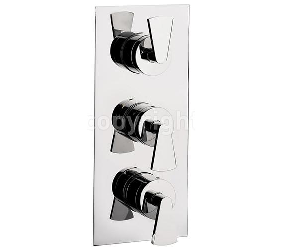 Crosswater Essence Thermostatic Shower Valve 3 Control Portrait Image