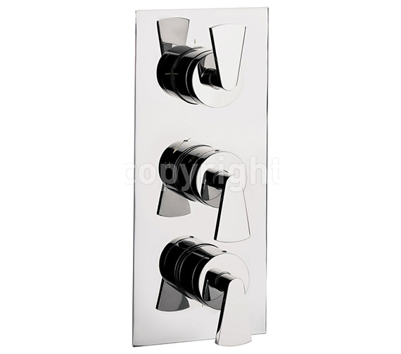 Crosswater Essence Thermostatic Shower Valve With 3 Way Diverter Portrait Image