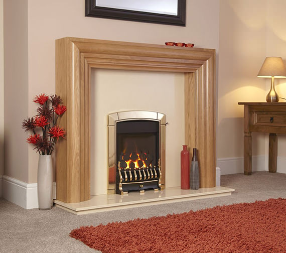 Caress Traditional HE Slide Control Inset Gas Fire Brass - FHEC41SN Image