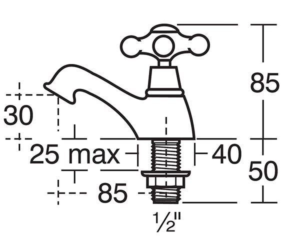 Image 2 of Ideal Standard Kingston Pair Of Basin Taps - E6045AA