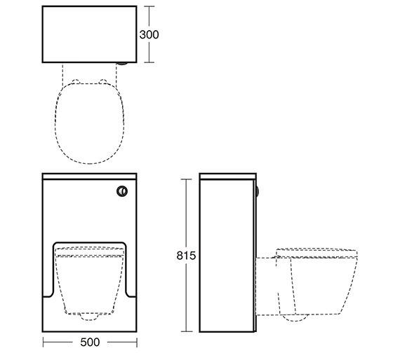 Image 2 of Ideal Standard Concept 500 x 300mm WC Unit American Oak - E6453SO