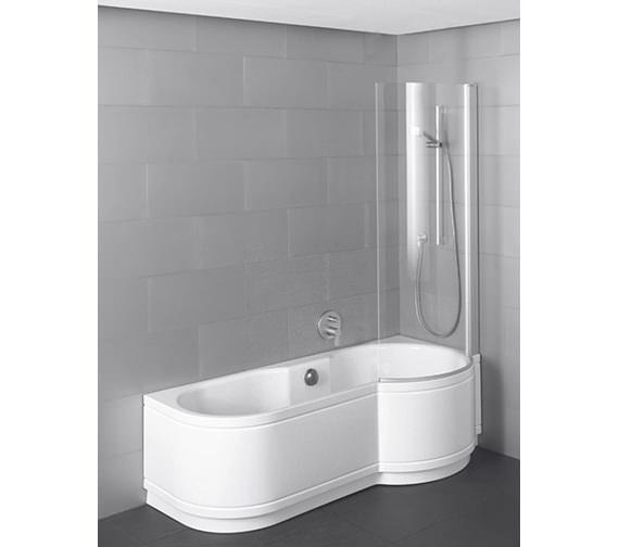Bette Cora Comfort Shower Bath 1600 x 900mm - Corner Installation Image