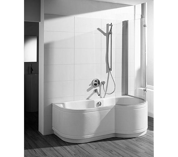Image 3 of Bette Cora Ronda Comfort Shower Bath 1600 x 900mm - 8500CERH