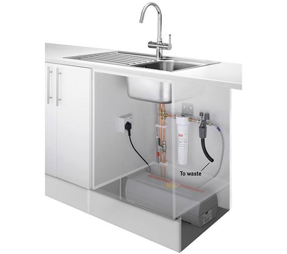 Image 10 of Franke Minerva 3-In-1 Kettle Kitchen Sink Mixer Tap Chrome