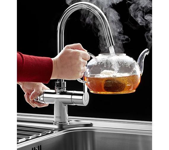 Image 3 of Franke Minerva 3-In-1 Kettle Kitchen Sink Mixer Tap Chrome