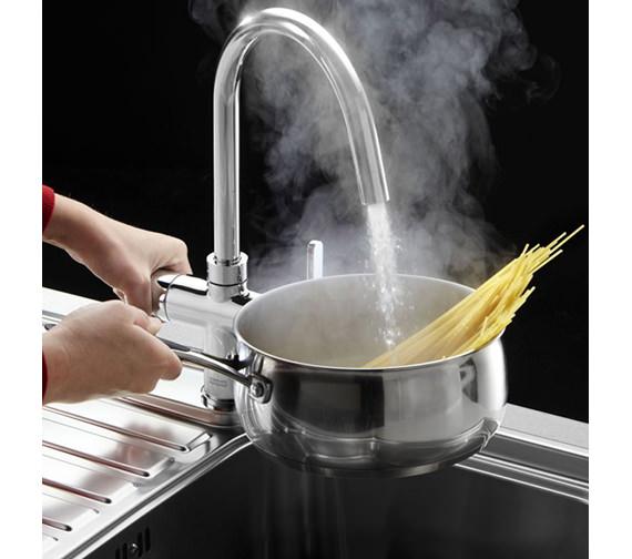 Image 8 of Franke Minerva 3-In-1 Kettle Kitchen Sink Mixer Tap Chrome