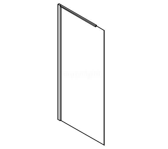 Image 2 of Simpsons Design Semi Frame-less Walk In Panel 600mm - DSPSC0600