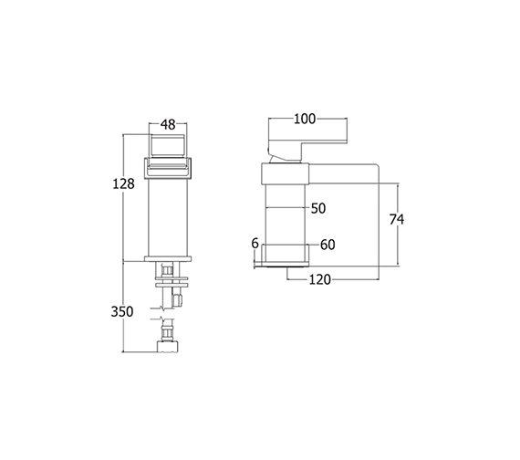Image 2 of Deva Sparkle Mono Basin Mixer Tap With Press Top Waste - SPA113