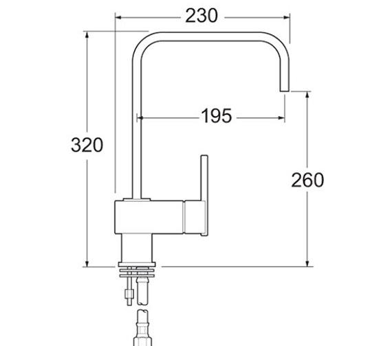 Image 2 of Deva Edge Mono Sink Mixer Tap - EDGE118
