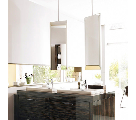 Duravit 2nd Floor Mirror With Lighting And 1480mm Ceiling panel Image