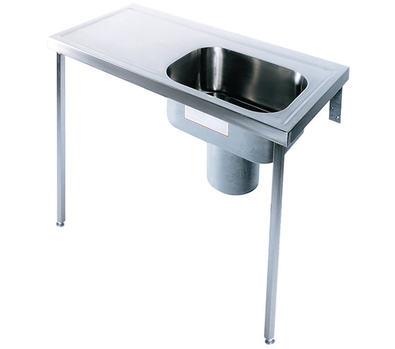 Twyford Stainless Steel 1200 x 600mm Plaster Sink And Worktop Image