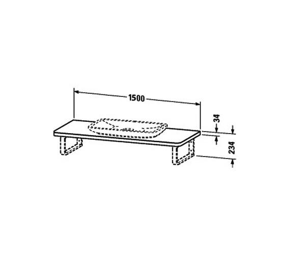 Image 2 of Duravit PuraVida Basin 700mm On Console 1500mm - PV070CX8585