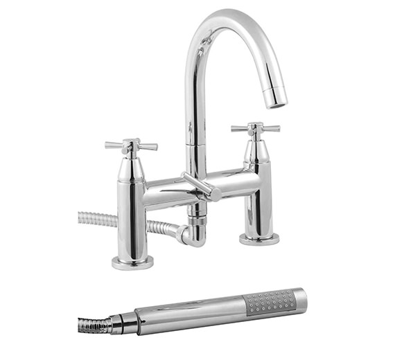 Twyford Rival 2 Hole Deck Mounted Bath Shower Mixer Tap - RL5265CP Image