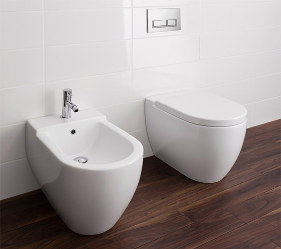 Image 5 of Bauhaus Stream II Back To Wall WC Pan 510mm And Soft Close Seat