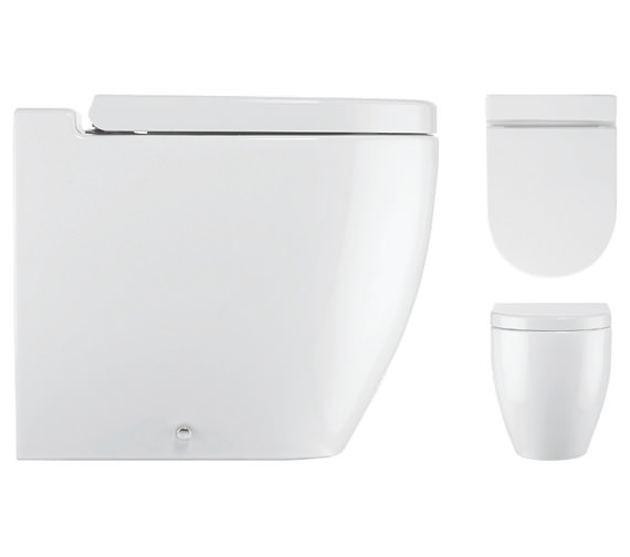 Image 3 of Bauhaus Stream II Back To Wall WC Pan 510mm And Soft Close Seat