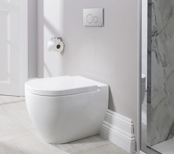 Image 4 of Bauhaus Stream II Back To Wall WC Pan 510mm And Soft Close Seat