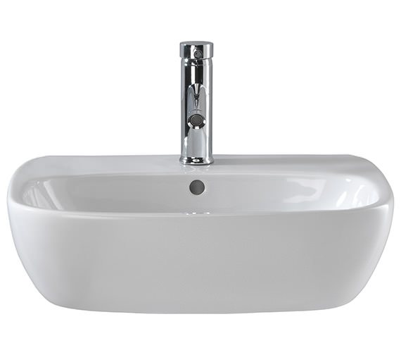 Twyford Moda 1 Centre Tap Hole Washbasin 550 x 450mm - MD4231WH Image