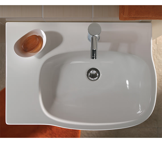 Image 4 of Twyford Moda Washbasin With Left Hand Shelf Space 650 x 460mm